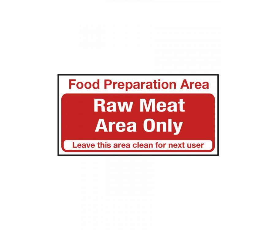 Food Prep & Sink Area Signs