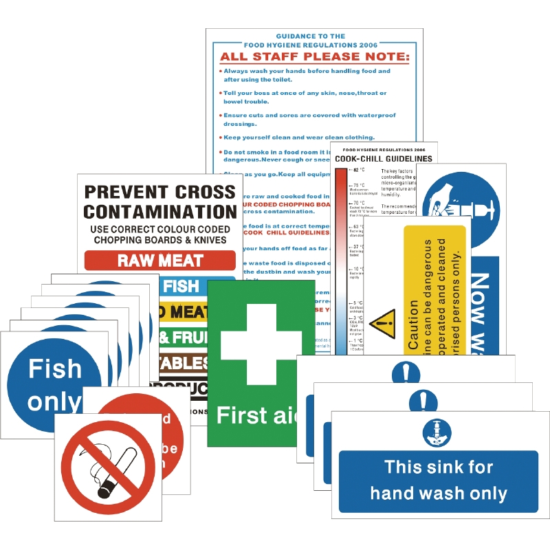 Catering Health & Safety Sign Packs