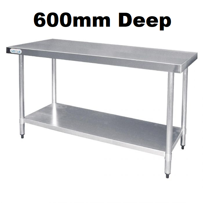 Stainless Steel Tables - 600mm Deep