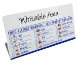 Food Allergen Notice - BT024 -  Write on, Wipe off