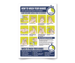 """Coronavirus """"How To Wash Your Hands In The Workplace"""" Vinyl Sticker A3"""