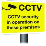 CCtv in operation on premises . 300x400mm W/M