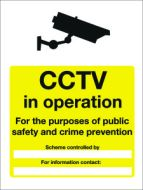 CCTV in operation/ for purpose of public safety etc. 600x400mm E/R