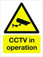 CCTV In Operation. 400x600mm. Exterior