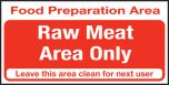 Food prep area. Raw food only. 100x200mm. S/A