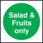 Salad & fruits only. 100x100mm. Self Adhesive Vinyl