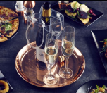 "Copper 12"" Round Drinks Tray 300mm - Genware"