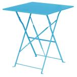 Bolero GK985 Seaside Blue Square Pavement Style Steel Table