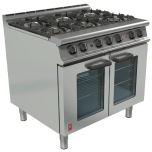 Falcon G3101 OTC Dominator Plus - 6 Burner Range/Oven Dual Fuel Fan Assisted
