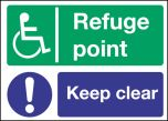 Refuge point keep clear. 300x400mm S/A