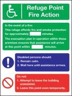 Refuge point fire action. 200x150mm P/L