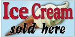 Retro Window Sign FD140 - 'Ice Cream Sold Here'