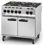 Lincat OD8007/P Opus 800 - Dual Fuel 6 Burner Range  - LPG