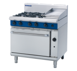 Blue Seal G506C - Gas Range - 4 Burner With 300mm Smooth Griddle - Natural Gas