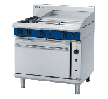 Blue Seal Evolution G56B - Gas 2 Burner Range, 600mm Griddle with Gas Convection Oven 900mm - LPG Gas