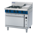 Blue Seal Evolution G56C - Gas 4 Burner Range, 300mm Griddle with Gas Convection Oven 900mm - LPG Gas