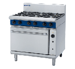 Blue Seal Evolution G56D - Gas 5 Burner Range with Gas Convection Oven 900mm - Natural Gas