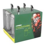 Glass Sugar Pourers 4 Pack