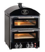 King Edward PK2 Pizza King - Double Deck Pizza Oven - Black