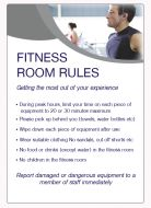 Fitness room rules Spa & Fitness Notice. 400x275mm E/R