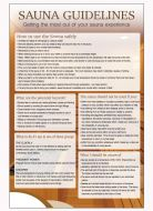 Sauna guidelines Spa & Fitness Notice. 400x275mm E/R