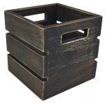 Black Wash Mini Wooden Crate NAT-MCB