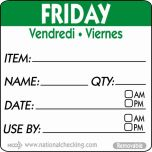 50mm Friday Removable Day Label (500) - Genware