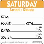 50mm Saturday Removable Day Label (500) - Genware