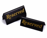 Black & Gold Reserved Table Sign For Restaurants / Cafes / Pubs - Pack of 5