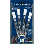 Chalkmarkers 4 Pack White Small - Genware