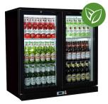Sterling Pro Green SP2HC-BH Black Hinged Double Door Bottle Cooler 180 Bottles