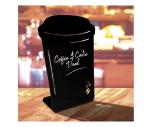 Coffee Cup Shaped Chalk Board Tabletop Message Board
