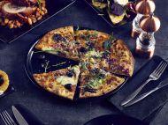 Luna Pizza Plate 33cm Dia Black Stoneware - Genware