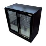 Belmont BC9027K - Sldiding Door Black Bottle Cooler