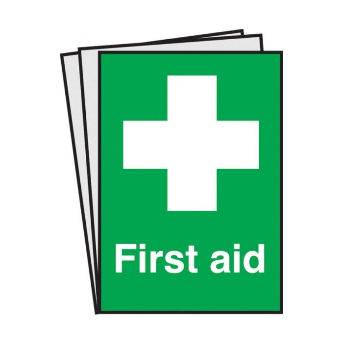 First Aid Text Symbol Notices Pack Of 10 Catering Equipment Online