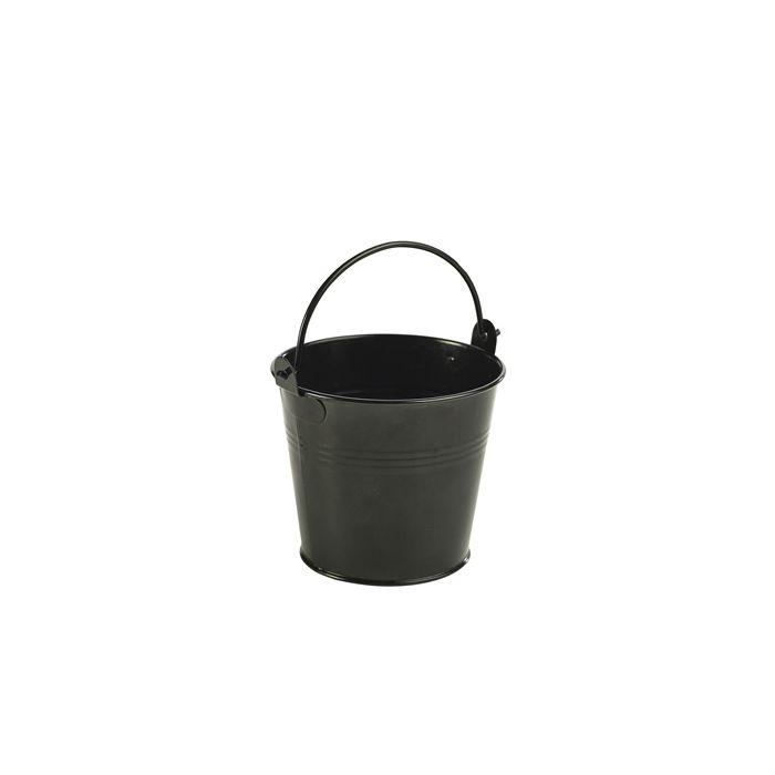 Galvanised Steel Serving Bucket 10cm Ø Black - Genware