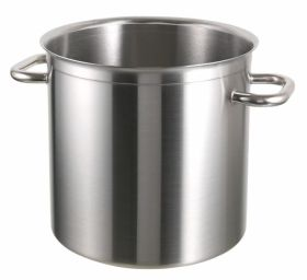 25 Ltr Stainless Steel Stockpot With Aluminium Base - Bourgeat Excellence CKSP0175  (induction compatible)