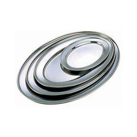 "Stainless Steel Oval Flat 8"" - Genware"