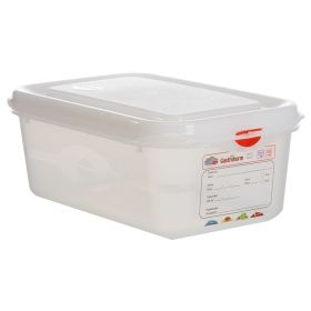 Genware Storage Container 1/4GN - 100mm Deep 2.8L