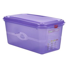 Purple Allergen Storage Container 1/3GN  150mm Deep 6L