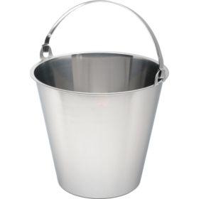 Swedish Stainless Steel  Bucket 12 Litre Graduated - Genware