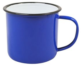 Enamel Mug Blue 9cm Dia 360ml