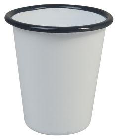 Enamel Beaker Grey & White 9cm Diameter