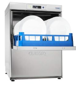 Classeq D500DUO Dishwasher 500mm Rack 18 Plate With Drain Pump