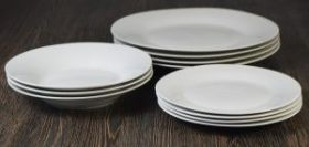12 Piece Everyday Value Dinnerware Set - 4 x Dinner plates, Side plates & Bowls