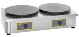 Roller Grill 400CDE Double Crepe Griddle - Electric