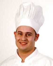Tall Chef Hat White - Bon Chef H010