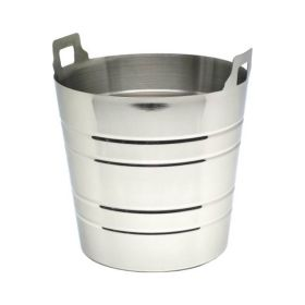 Stainless Steel Wine Bucket With Integral Handles