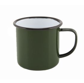 Enamel Mug Green 36cl/12.5oz - Genware