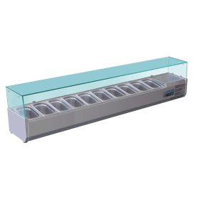 Polar G611 Refrigerated Countertop Servery Prep Unit 10x 1/4GN